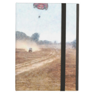 Vehicle and parasailing over land iPad air cover
