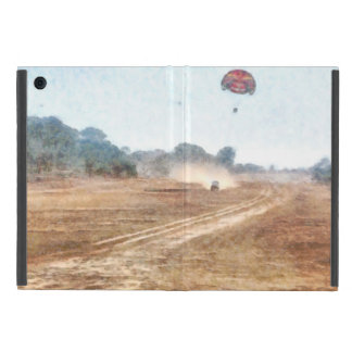 Vehicle and parasailing over land iPad mini cover