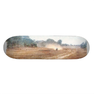Vehicle and parasailing over land skateboard deck
