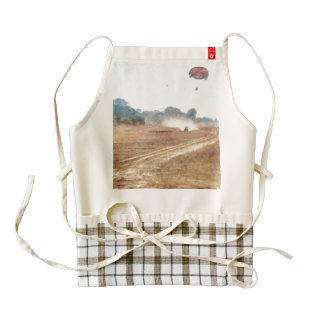 Vehicle and parasailing over land zazzle HEART apron