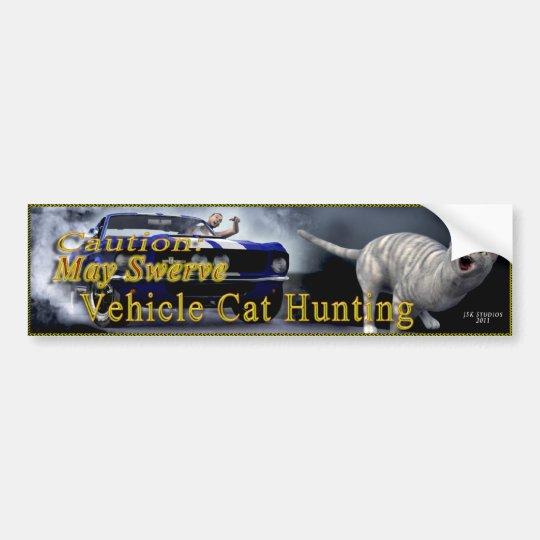Vehicle Cat Hunting Bumper Sticker