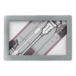 Vehicle frame rectangular belt buckle