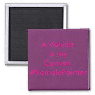 Vehicle Repair Car Painter 2 Inch Square Magnet