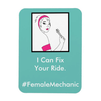 Vehicle Repair Female Mechanic Magnet