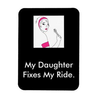 Vehicle Repair Female Mechanic Rectangular Photo Magnet