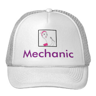 Vehicle Repair Female Mechanic Trucker Hat