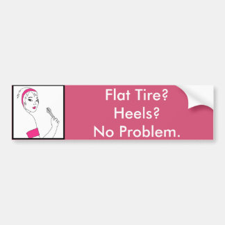 Vehicle Repair Flat Tire Bumper Sticker