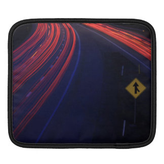 Vehicle Traffic Tail Light Trails Sleeve For iPads