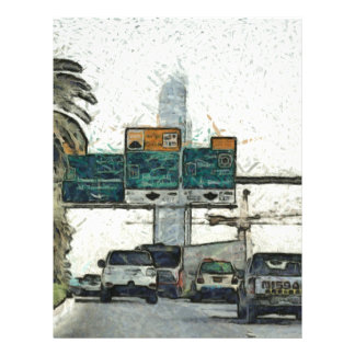 Vehicles on a road in Dubai Letterhead