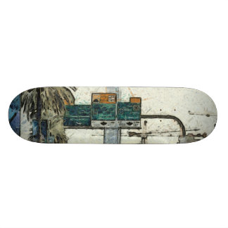 Vehicles on a road in Dubai Skateboard Deck