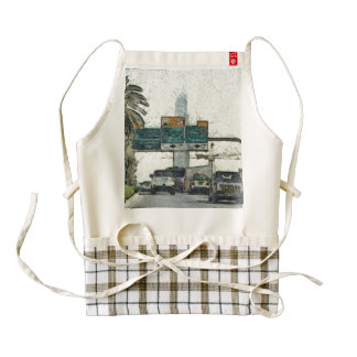 Vehicles on a road in Dubai Zazzle HEART Apron