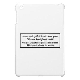 Vehicles with Shaded Glasses, Traffic Sign, UAE iPad Mini Case
