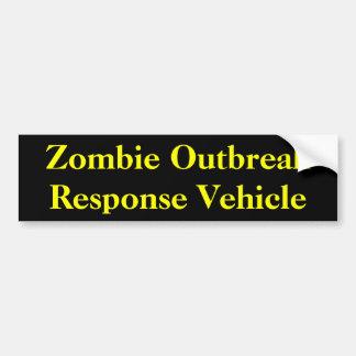 Vehículo de la respuesta del brote del zombi etiqueta de parachoque