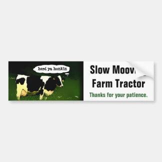 Vehículo de movimiento lento divertido de la granj pegatina para auto
