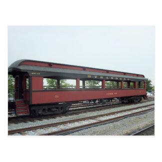Vehículo de pasajeros al aire libre.  Ferrocarril  Postal