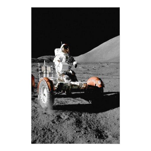 Vehículo de vagueación lunar de la NASA Apolo diec Papelería Personalizada