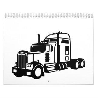 Vehículo del camión calendarios