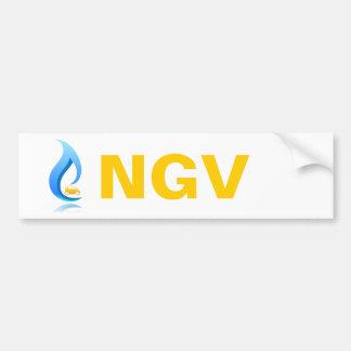 Vehículo del gas natural de la pegatina para el pa etiqueta de parachoque
