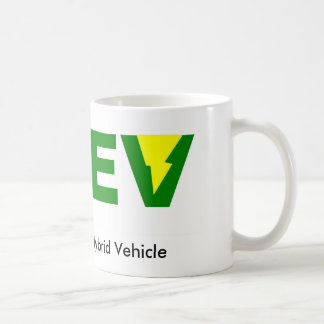 Vehículo eléctrico híbrido enchufable verde de taza