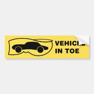 Vehículo en dedo del pie pegatina para auto