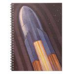 Vehículo espacial de la ciencia ficción del cuadernos