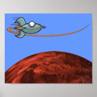Vehículo espacial poster