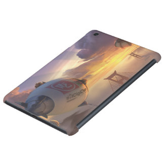 Vehículo espacial y puente grandes del héroe funda de iPad mini