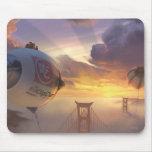 Vehículo espacial y puente grandes del héroe tapetes de raton