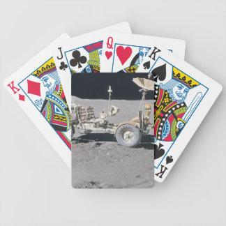 Vehículo lunar baraja cartas de poker