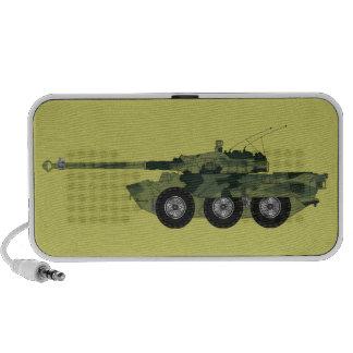 Vehículo militar laptop altavoces