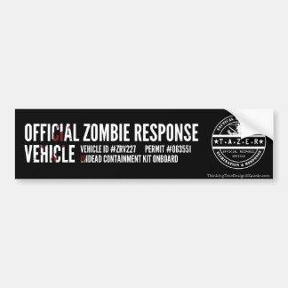 Vehículo oficial de la respuesta del zombi pegatina de parachoque