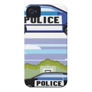 Vehículo policial iPhone 4 carcasa