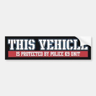 Vehículo protegido por la unidad de la policía K9 Pegatina Para Auto