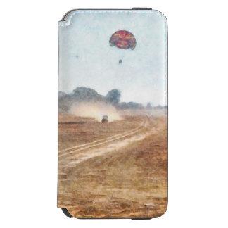 Vehículo y parasailing sobre tierra funda billetera para iPhone 6 watson