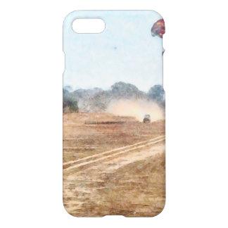 Vehículo y parasailing sobre tierra funda para iPhone 7