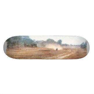 Vehículo y parasailing sobre tierra skateboard