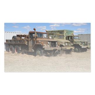 vehículos de ejército viejos tarjeta de visita