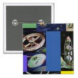 Vehículos de espacio retros de Sci Fi del kitsch d Pin