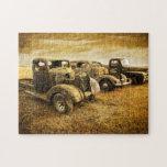 Vehículos del vintage puzzles con fotos