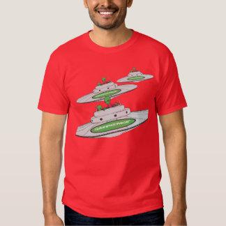Vehículos espaciales extranjeros GreenSpace Camisas