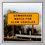 Vehículos lentos del Downgrade Poster