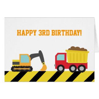 Vehículos lindos de la construcción para el tarjeta de felicitación