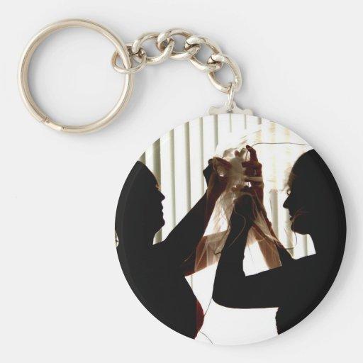 Veil Adjust Bride Outline Photograph Design Keychains