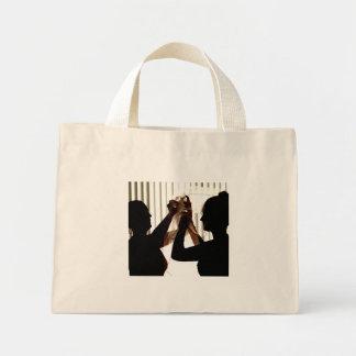Veil Adjust Bride Outline Photograph Design Mini Tote Bag