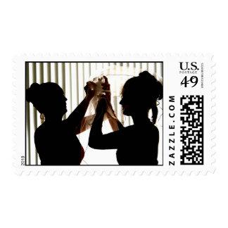 Veil Adjust Bride Outline Photograph Design Stamps