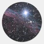 Veil Nebula Classic Round Sticker