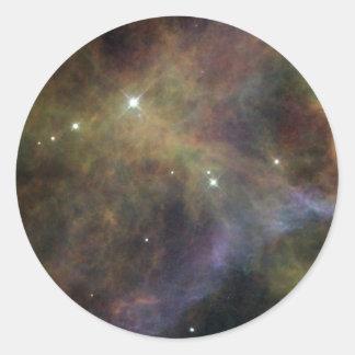 Veil Nebula - Segment Round Stickers