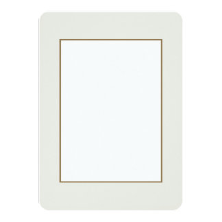 Veil White Bride White Silk Tulle French Chateau 4.5x6.25 Paper Invitation Card
