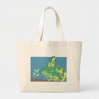 Veiled chameleon jumbo tote bag