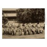 Veiled dancers at Mandalay, Burma Card